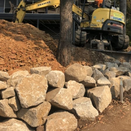 300mm-400mm Landscaping Rocks from Local Brisbane Quarry
